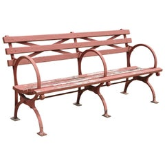 Art Deco 1939 Kenneth Lynch & Sons World's Fair NYC Double Cast Iron Moses Bench