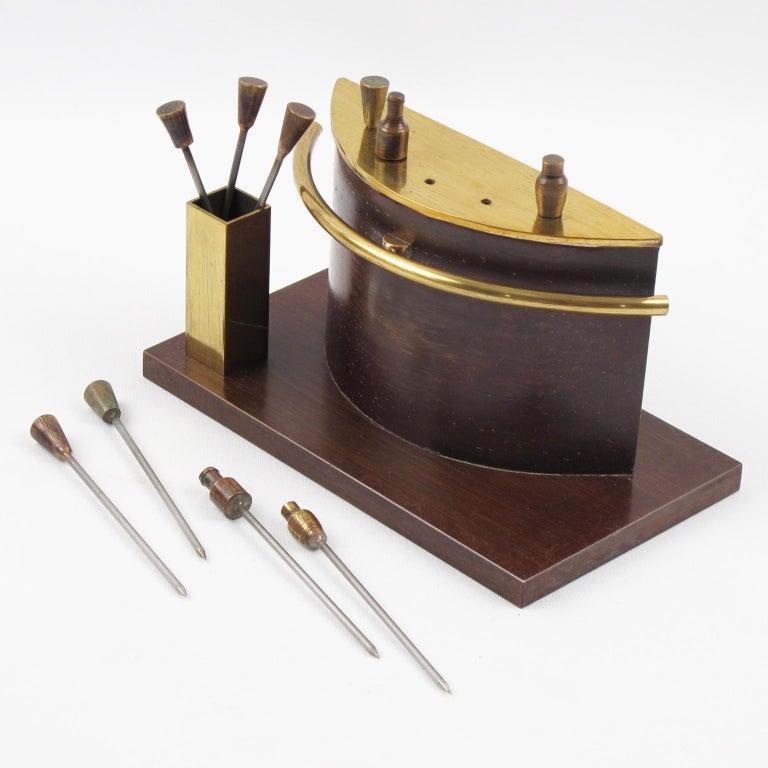 Mid-20th Century Art Deco 1940s Brass Miniature Bar Cocktail Picks
