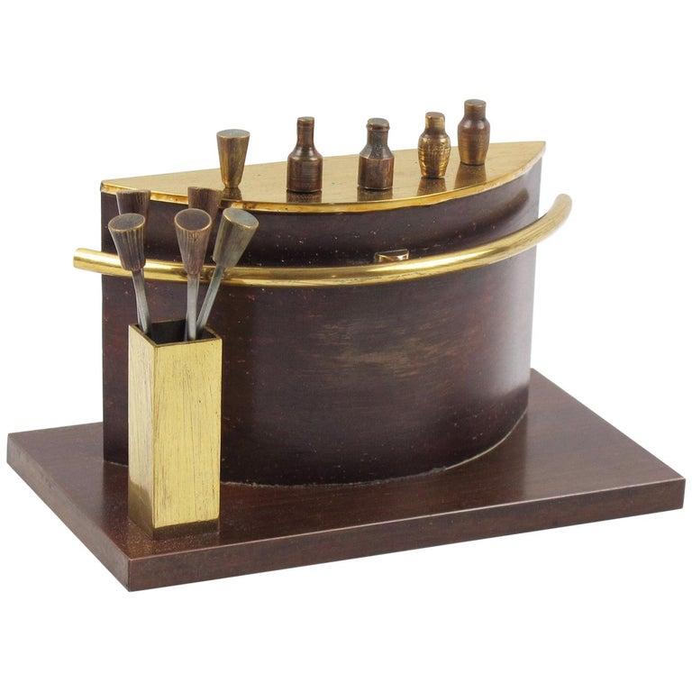 Art Deco 1940s Brass Miniature Bar Cocktail Picks