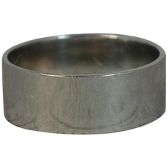 Art Deco 1940s Wide Solid Platinum Band Stack Ring