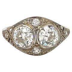 Art Deco 2.45 Carat Diamond Plaque Filigree Ring