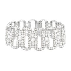 Art Deco 25 Carat Diamond Set Platinum Bracelet