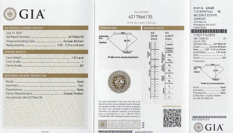 Art Deco 2.56 Carats Diamond Platinum-Topped 14 Karat Gold Cluster Ring GIA For Sale 7