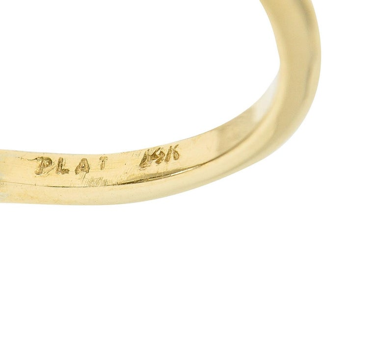 Art Deco 2.56 Carats Diamond Platinum-Topped 14 Karat Gold Cluster Ring GIA For Sale 2