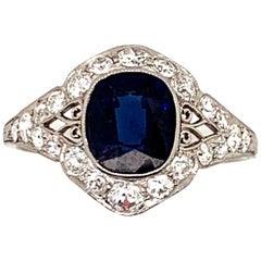 Art Deco 3 Carat Sapphire Ring