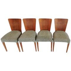 Art Deco 4 Chairs J. Halabala from 1940