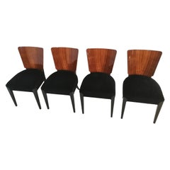 Art Deco 4 Chairs J.Halabala from 1940