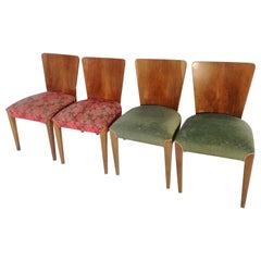 Art Deco 4 Chairs J.Halabala from 1940