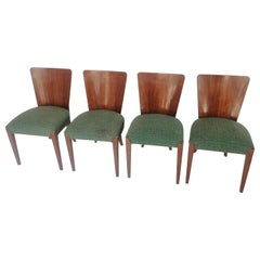 Art Deco 4 Chairs J. Halabala from 1940
