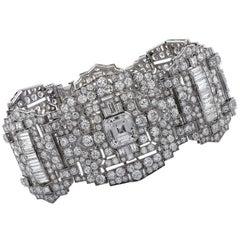 Art Deco 47 Carat Diamond Bracelet