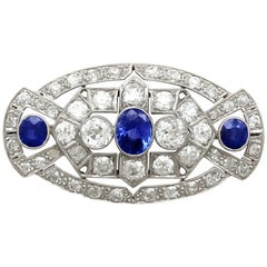 Art Deco 5.68 Carat Diamond and 2.35 Carat Platinum Brooch