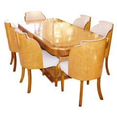 Art Deco 6-Seat Dining Suite by Harry & Lou Epstein, English, circa 1930