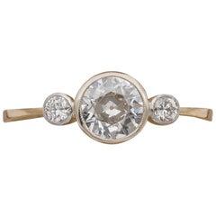 Art Deco .75 Carat Diamond Trilogy Ring