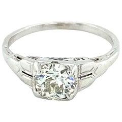 Art Deco .76 Carat Diamond Ring