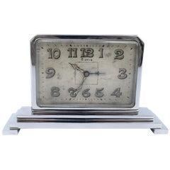 Art Deco 8 Day Chrome Cased Clock, circa 1930