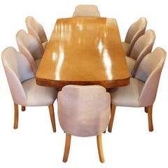 Art Deco 8-Seat Dining Suite