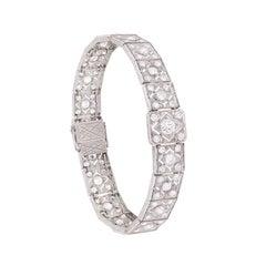 Art Deco 8.20 Carat Diamond Bracelet, circa 1920s