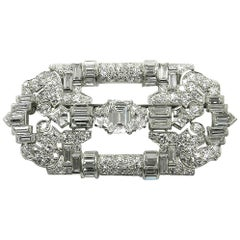 Art Deco 8.43 Carat Diamond and Platinum Brooch, circa 1920