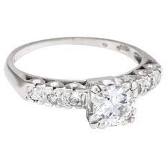 Art Deco .85 Carat Diamond Engagement Ring