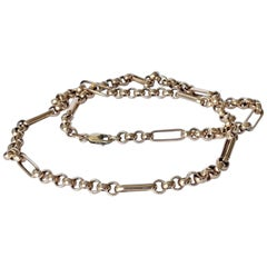 Art Deco 9 Carat Gold Link Necklace