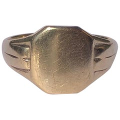 Art Deco 9 Carat Gold Signet Ring