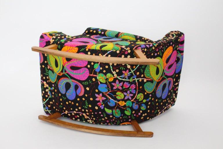 Josef Frank Adolf Loos Multicolored Wood Art Deco Era Vintage Rocking Chair 1920 For Sale 9