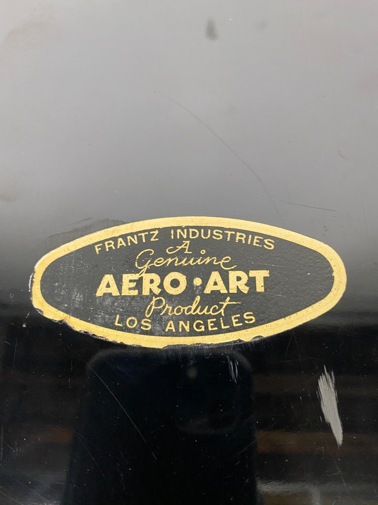 Art Deco Aero Art Frantz Industries Machine Age Aluminum and Micarta Bar Tray For Sale 3