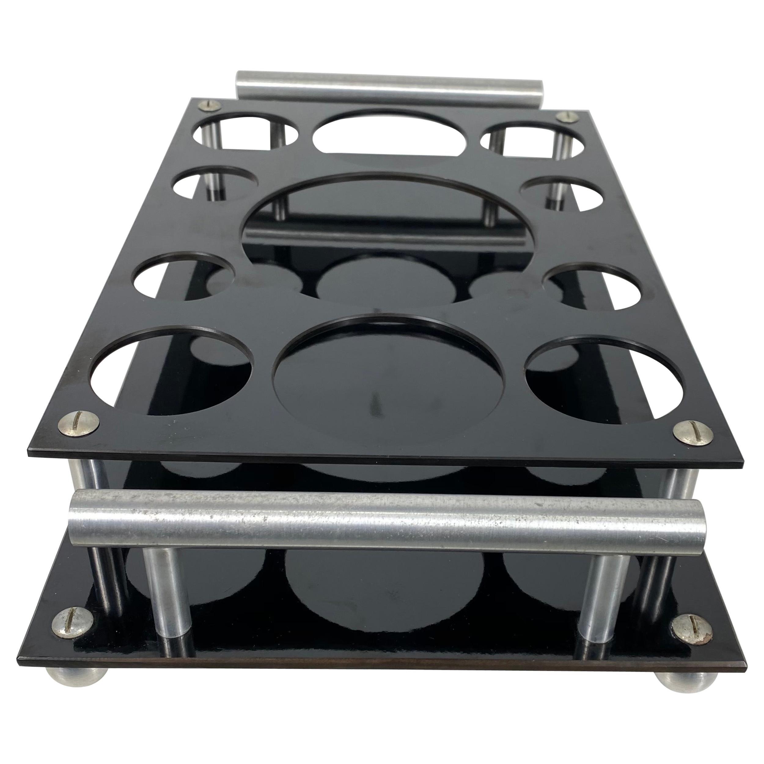 Art Deco Aero Art Frantz Industries Machine Age Aluminum and Micarta Bar Tray