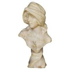 Art Deco Alabaster Bust