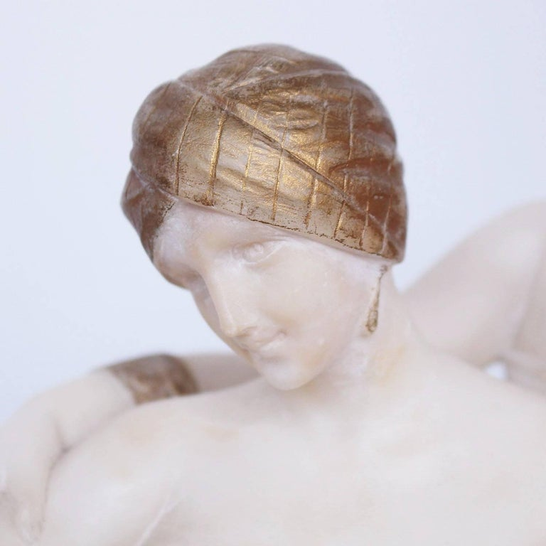 Art Deco Alabaster Sculpture by Fiaschi In Good Condition In Forest Row, East Sussex
