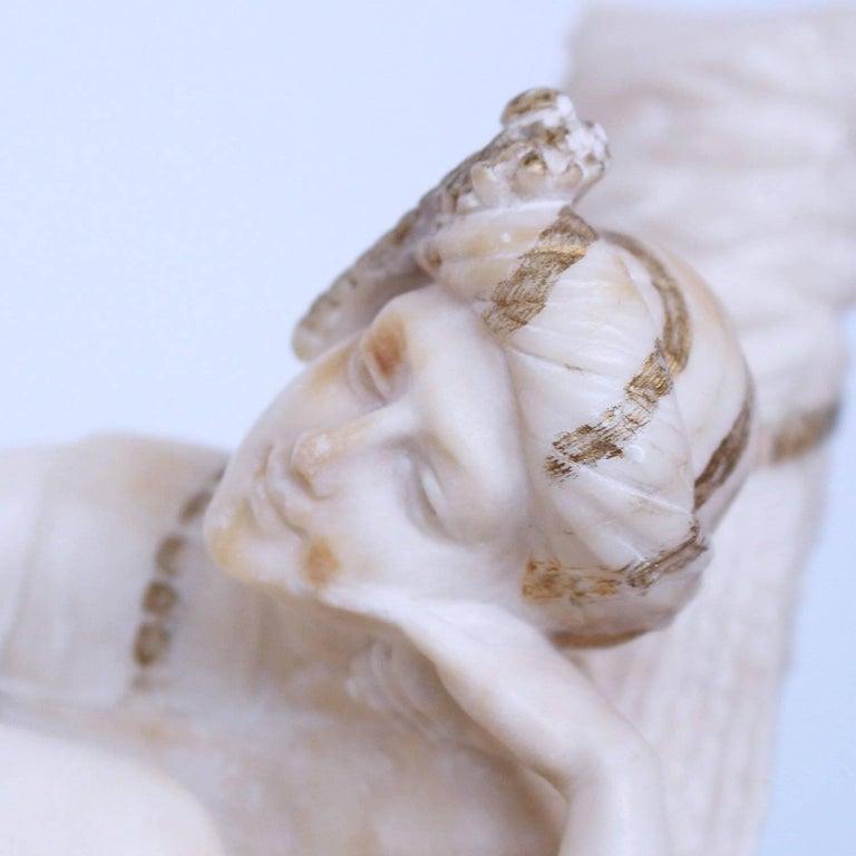 20th Century Art Deco Alabaster Sculpture by Fiaschi