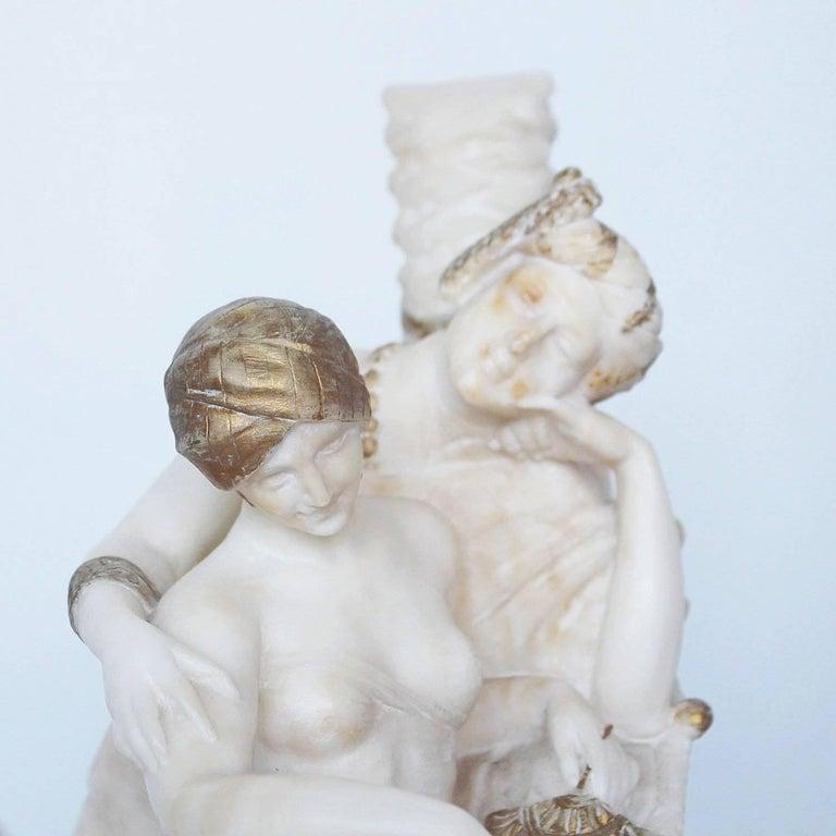 Art Deco Alabaster Sculpture by Fiaschi 1