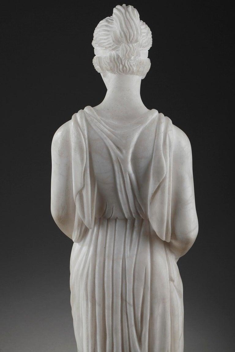 Art Deco Alabaster Sculpture The Samaritan Woman For Sale 8
