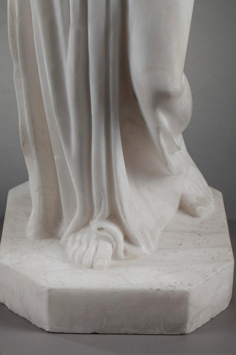 Art Deco Alabaster Sculpture The Samaritan Woman For Sale 12