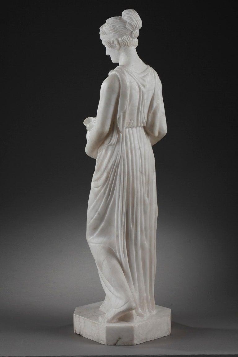 20th Century Art Deco Alabaster Sculpture The Samaritan Woman For Sale