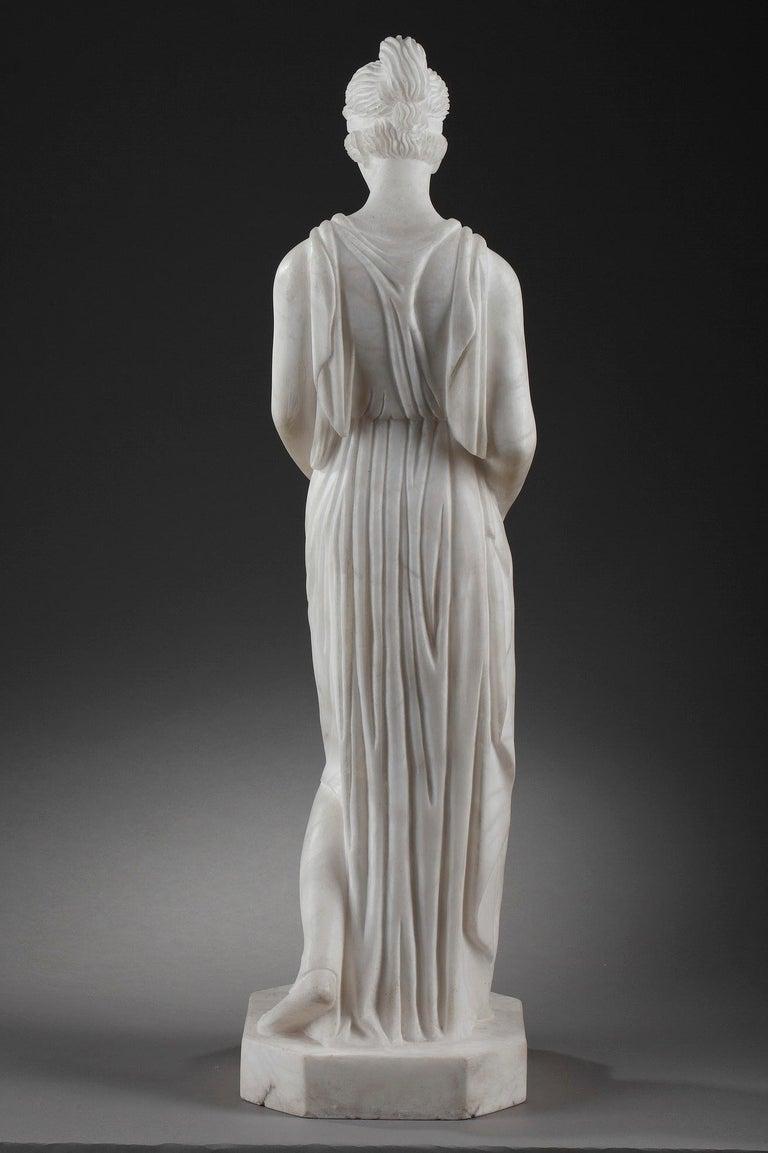 Art Deco Alabaster Sculpture The Samaritan Woman For Sale 1