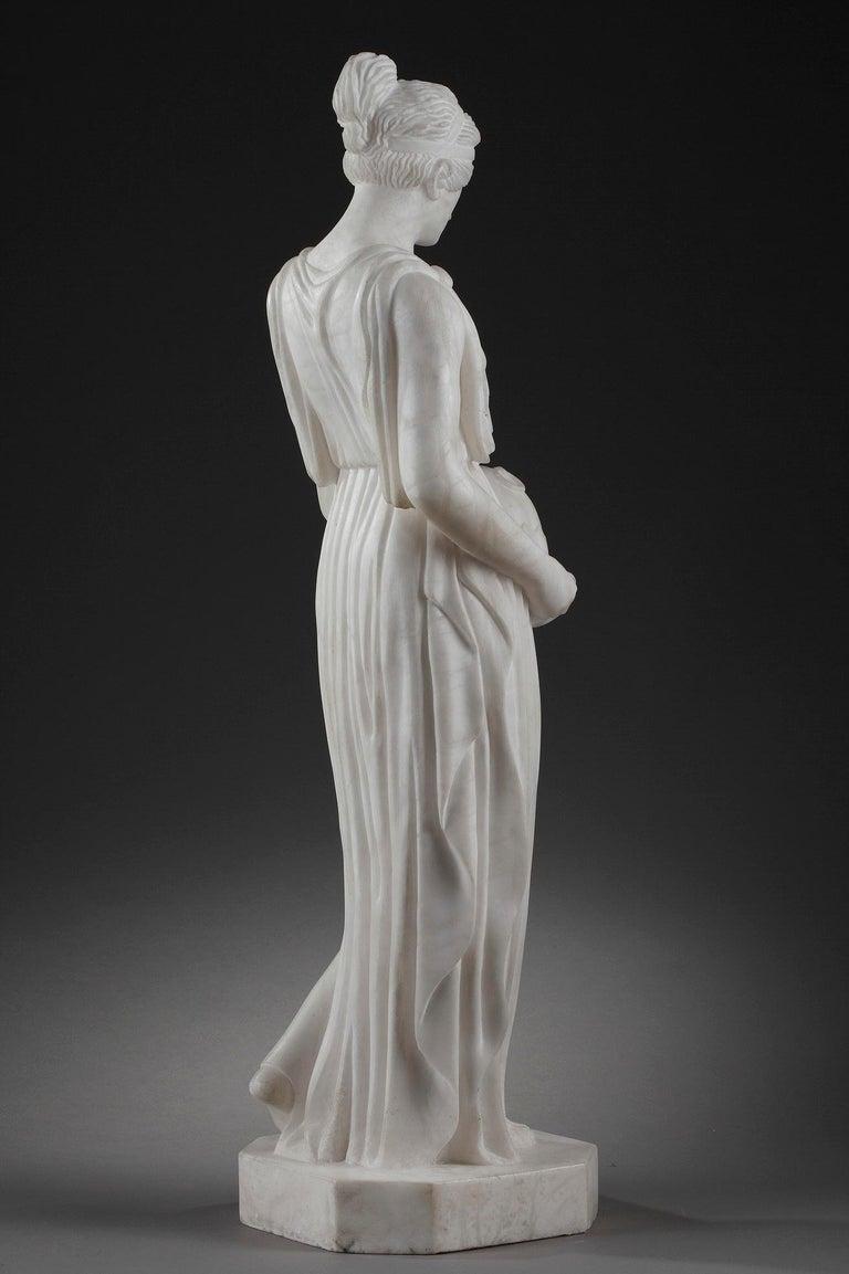 Art Deco Alabaster Sculpture The Samaritan Woman For Sale 2