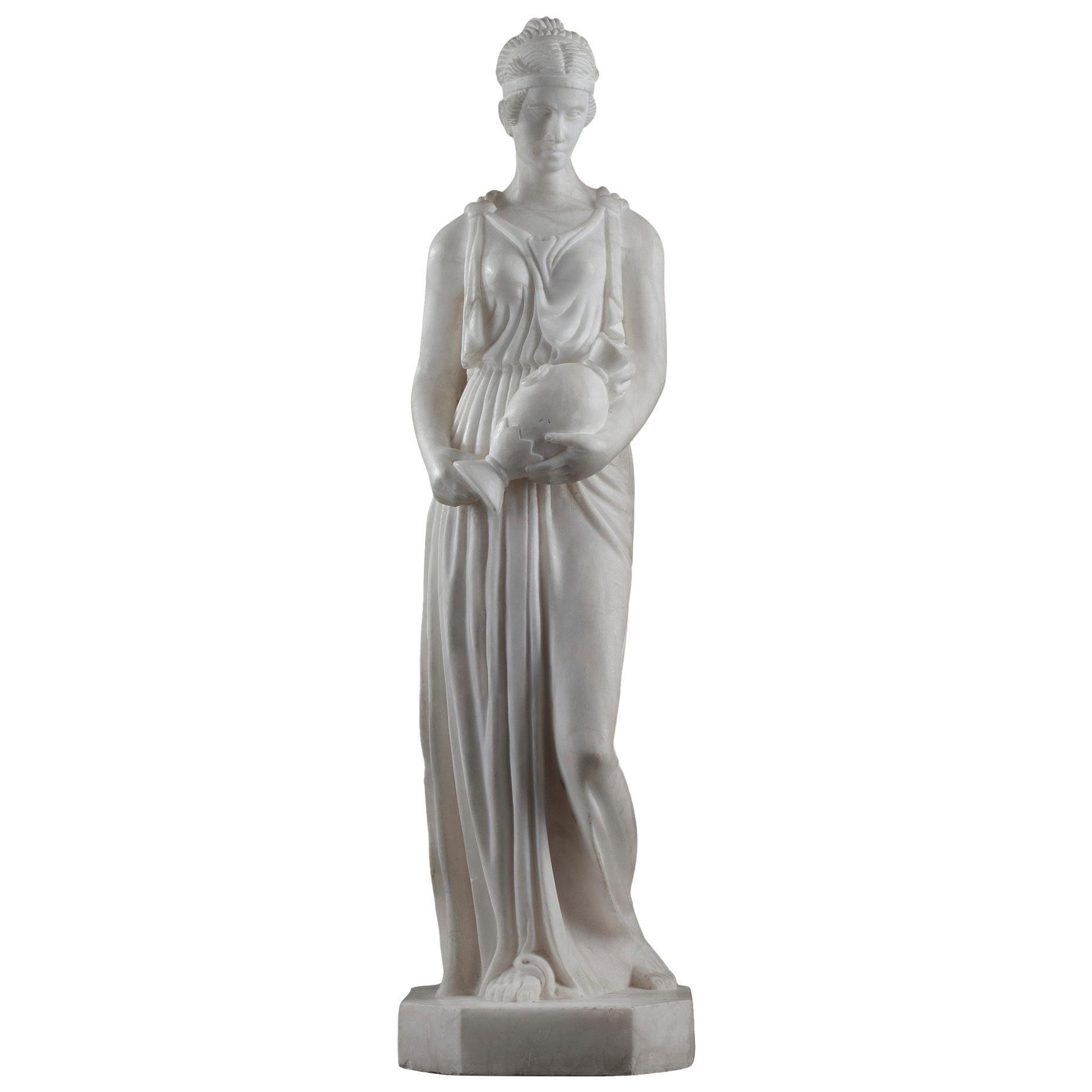 Art Deco Alabaster Sculpture The Samaritan Woman