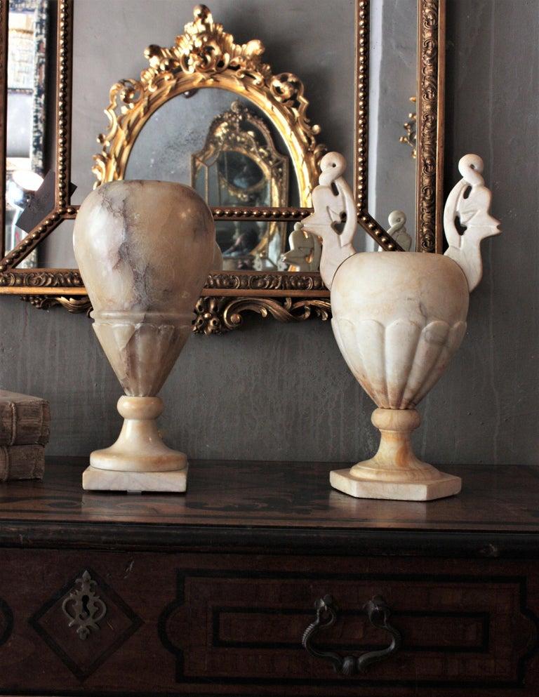 Art Deco Alabaster Urn Lamp For Sale 4