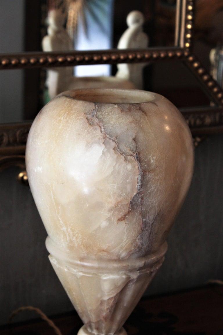 Art Deco Alabaster Urn Lamp For Sale 5