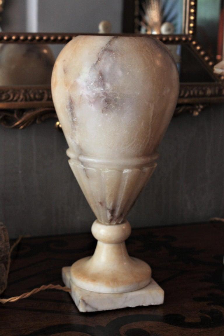 Art Deco Alabaster Urn Lamp For Sale 6