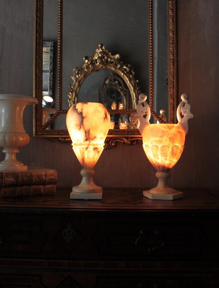 Art Deco Alabaster Urn Lamp For Sale 8