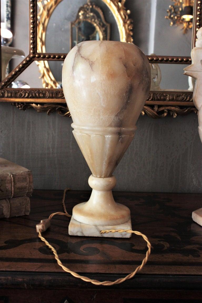 Art Deco Alabaster Urn Lamp For Sale 9