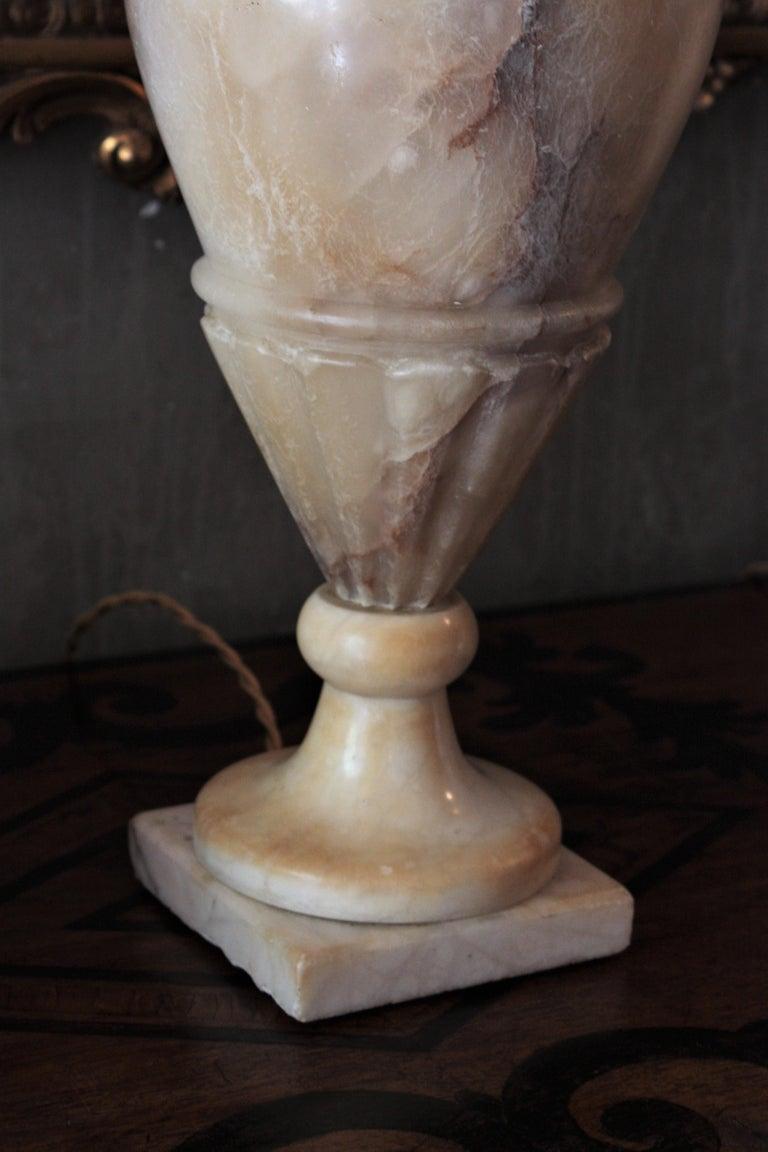 Art Deco Alabaster Urn Lamp For Sale 10