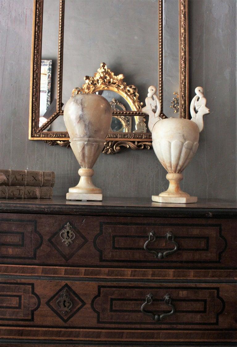 20th Century Art Deco Alabaster Urn Lamp For Sale