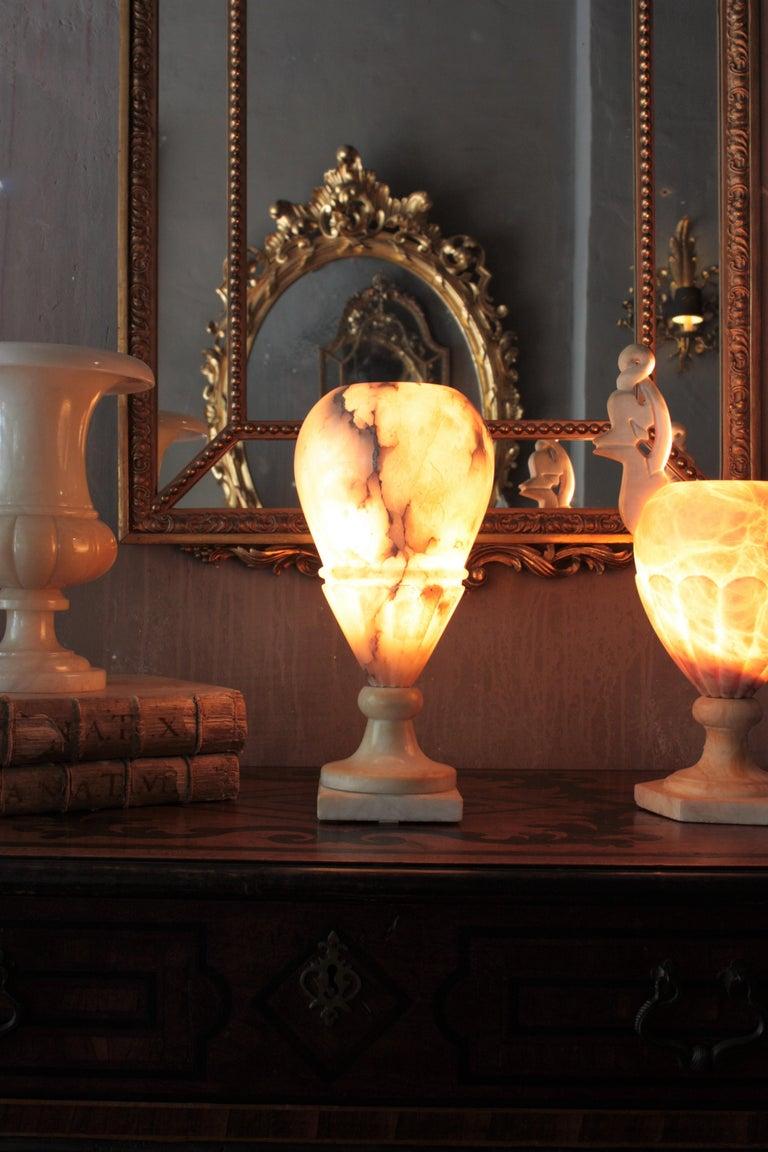 Art Deco Alabaster Urn Lamp For Sale 1