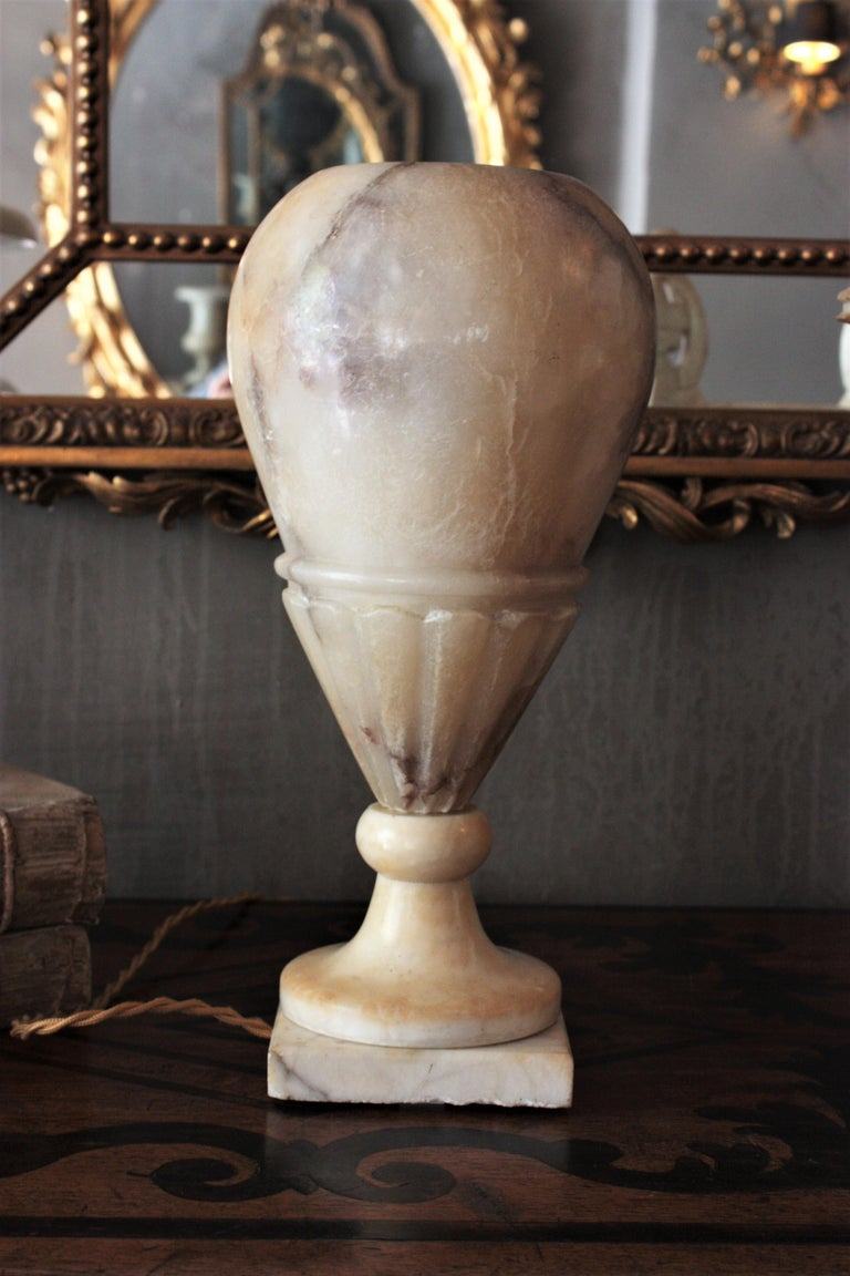 Art Deco Alabaster Urn Lamp For Sale 3