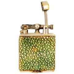 Art Deco Alfred Dunhill England Parker Beacon Efficient Lighter Shagreen