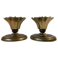 Art Deco, Alter Candleholders in Bronze, Cawa, 1930s