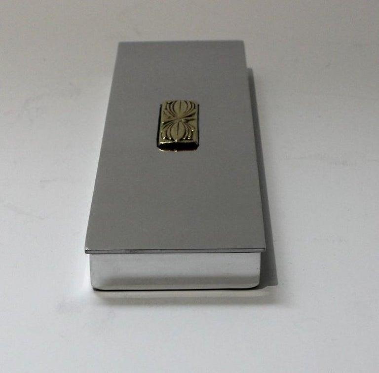 Art Deco Aluminum Box by Kensington For Sale 4